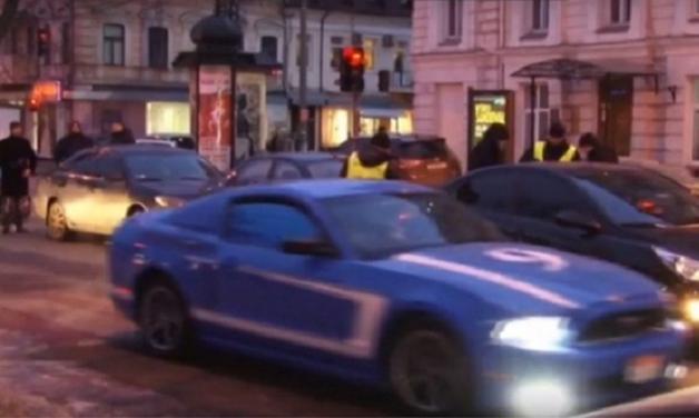В центре Одессы столкнулись четыре автомобиля