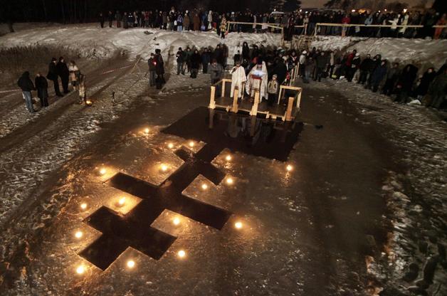 VIP-Крещение. Как украинские политики ныряли в прорубь