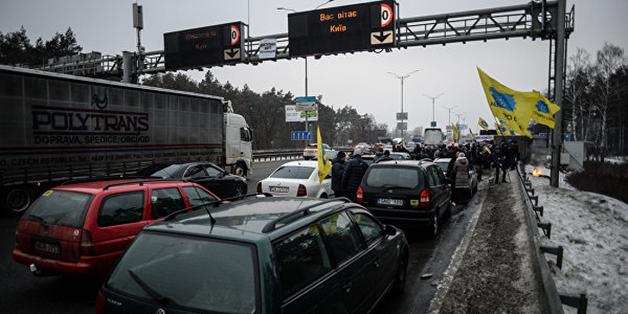 Блокирующие въезд в Киев запланировали встречу с Гройсманом