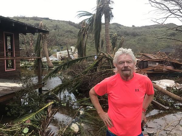 Миллиардер Брэнсон показал, что осталось от его острова после атаки урагана «Ирма»