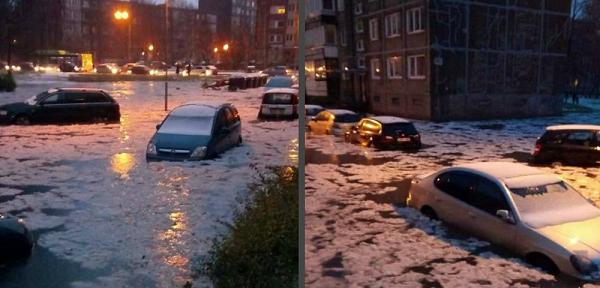 Экстремальная ситуация в Литве: Клайпеда стремительно уходит под воду