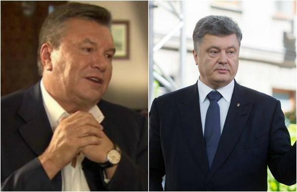 Те же, только в профиль. Порошенко с Януковичем объединила общая страсть