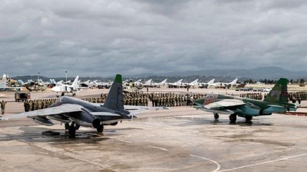 Масштабные потери России в Сирии: появилось яркое видео стрельбы у российской авиабазы