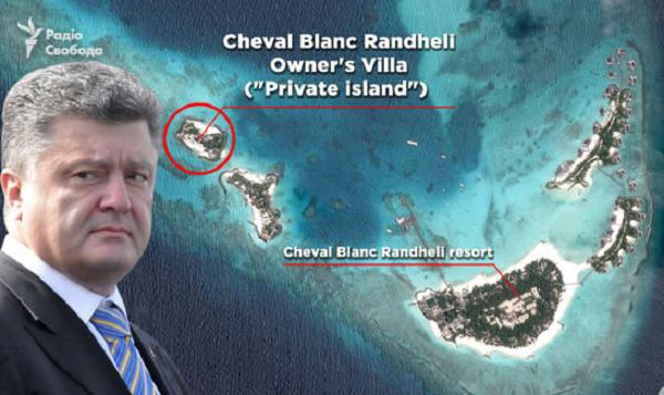 Отпуск Порошенко на отдельном острове на Мальдивах стоил $500 тыс