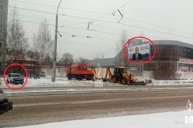 Новокузнецким полицейским приказали круглосуточно охранять предвыборные баннеры с Путиным