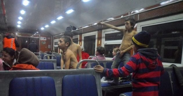 Ромы захватили украинский поезд: кадры сумасшествия