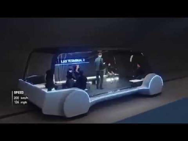 Илон Маск придумал подземные электробусы и показал, как они будут выглядеть