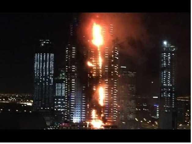 В Дубае горел небоскреб, объявили полную эвакуацию