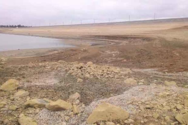 Из-за засухи в Крыму обмелело Белогорское водохранилище
