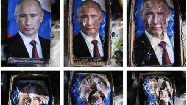 """В России оштрафовали художницу, которая показала, как """"разлагается Путин"""""""