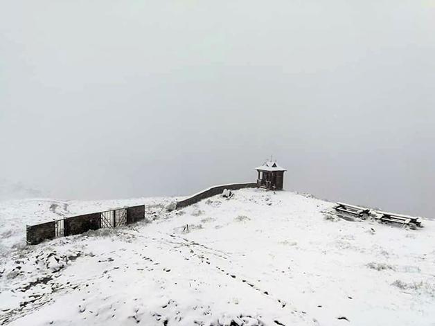 В Карпатах неожиданно вернулась зима