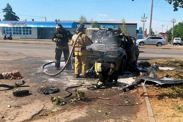 Полиция Ставрополья разыскивает киллеров, взорвавших бизнесмена в BMW X6