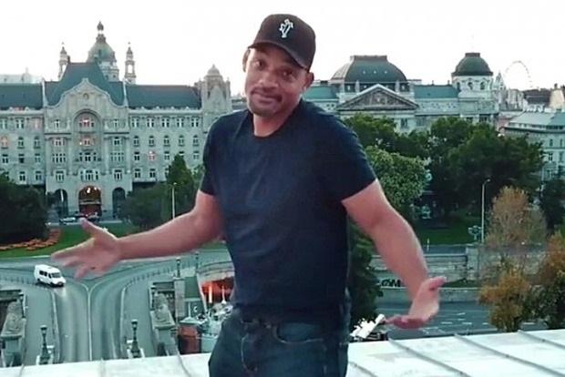 Уилл Смит подорвал Сеть танцем на мосту в Будапеште