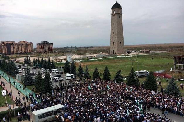 В Ингушетии из-за спора с Чечней началась стрельба