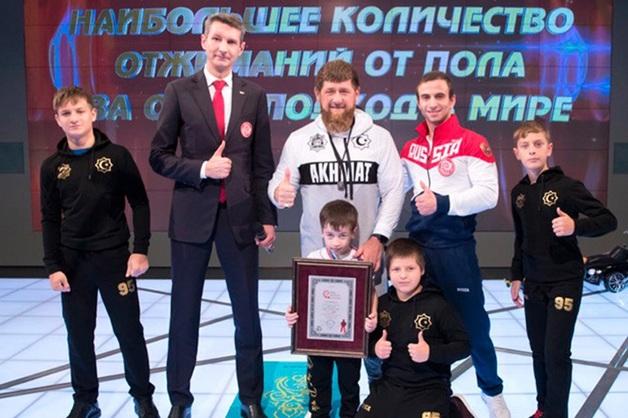 Кадыров объявил «почетным гражданином Чечни» 5-летнего мальчика, установившего 6 мировых рекордов