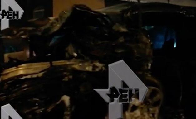 Видео с места смертельного ДТП в Подмосковье, где погибли четыре девушки