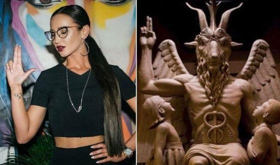 Ольга Бузова использует масонские символы в клипах