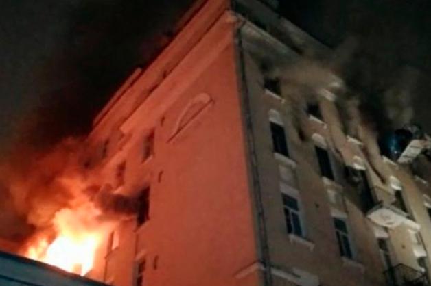 Число погибших в пожаре на Никитском бульваре возросло до четырех