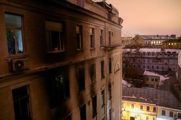Пожар в элитном доме в Москве начался в квартире дочери Башмета