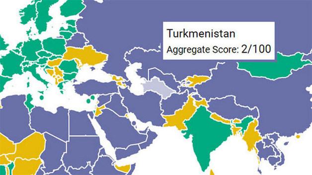 Северная Корея обогнала Туркменистан в рейтинге демократических свобод Freedom House