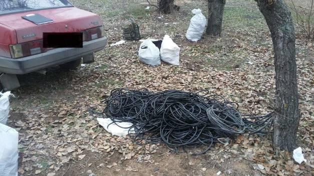 В Запорожье сотрудники СБУ попались на краже кабеля