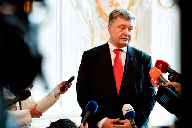 Охранник Порошенко оттолкнул российского журналиста, который пытался задать вопрос