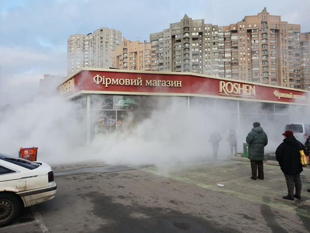 Киевский магазин Roshen поджог торговец «кондитеркой»