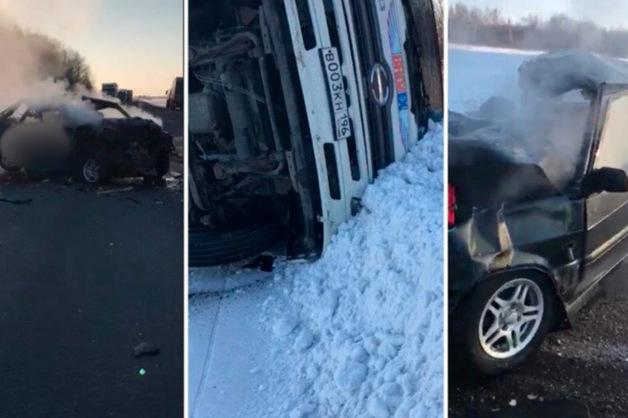 Несколько погибших: фура из Березовского перевернулась в результате аварии под Курганом