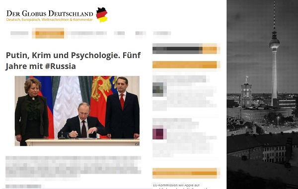 РИА «Новости» сообщило, как немецкие СМИ восторгаются развитием Крыма. «Немецкие СМИ» оказались липовым сайтом