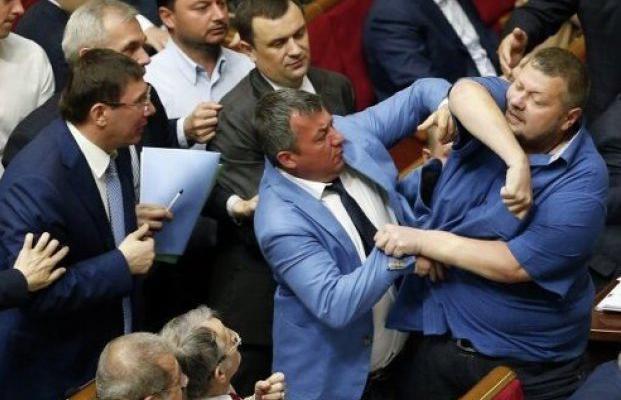 Самые известные драки украинских политиков-2016