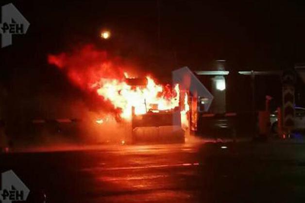 В сторожевой будке в Пулково заживо сгорел охранник