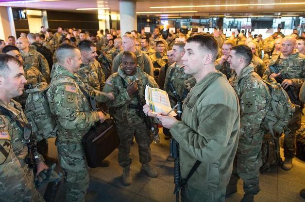 В Польшу прибыли первые 250 солдат бронетанковой бригады США