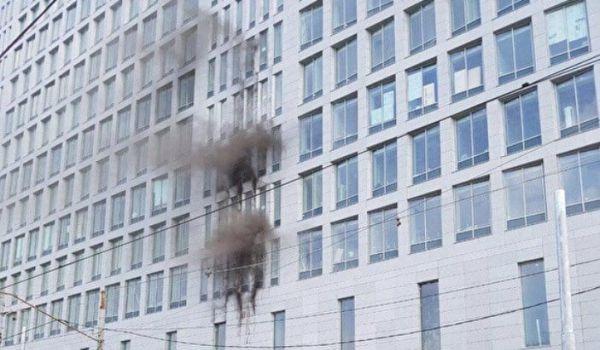 В Москве горело здание Следственного комитета России