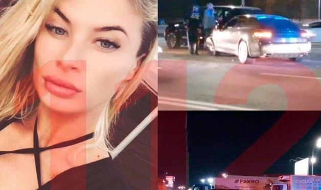 Кадры с места ДТП, в которое попала «украинская любовница Саакашвили»