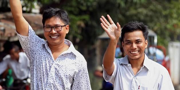 В Мьянме помиловали двух журналистов Reuters, обвиненных в попытке разглашения секретных данных