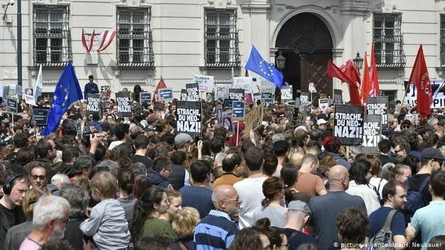 В Вене демонстранты требуют новые выборы в парламент