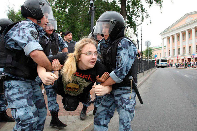 На марше в Москве задержали более 500 человек