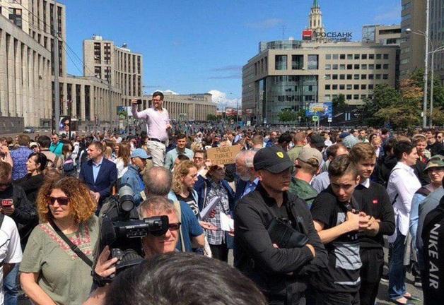 В Москве снова взбунтовались против Путина из-за Голунова: фото и видео