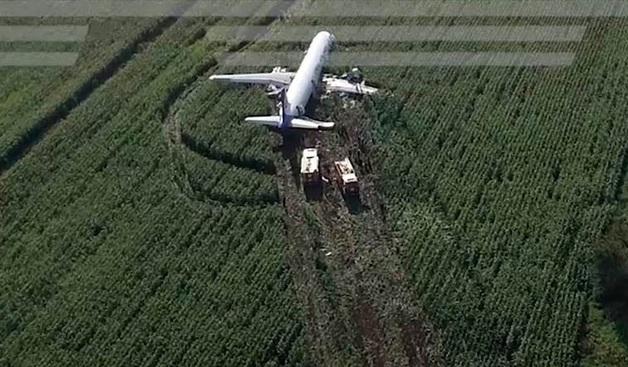 В «Уральских авиалиниях» назвали отказ силовых установок причиной посадки самолета в поле