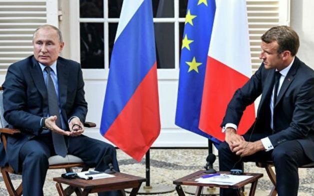 Путин и Макрон поспорили о предвыборных митингах в Москве