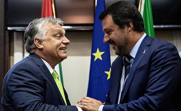 """Премьер-министр Венгрии Орбан назвал """"братом по оружию"""" уходящего вице-премьера Италии Сальвини"""
