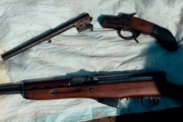 В пруду Балахиши обнаружено отправленное на утилизацию оружие