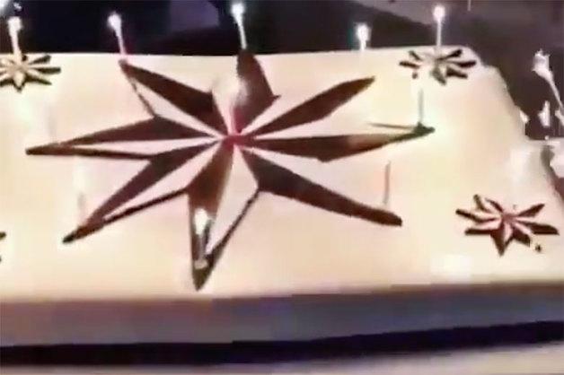 «Спасибо всем, кто с нами!». «Вор в законе» Гули продемонстрировал торт с «воровскими» звездами