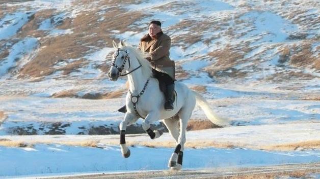 Ким Чен Ын на белом коне: Лидер КНДР эпично поднялся на самую высокую гору страны