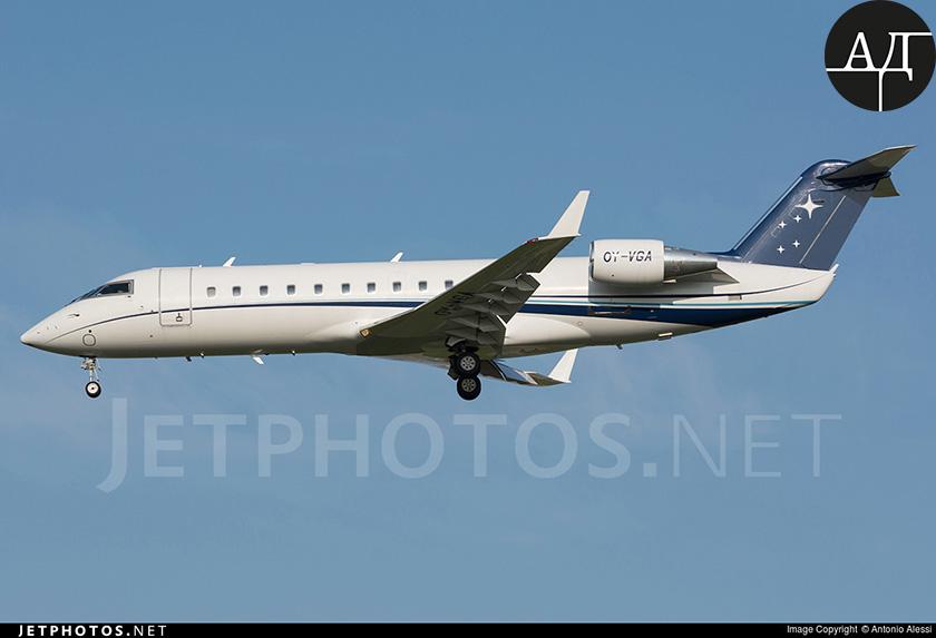 Кстати, это= не= единственный= самолет= бывшего= совладельца= корпорации= «исд».= в= его= распоряжении= остается= аналогичный= bombardier= (oy-vga),= который= часто= видят= жулянах.