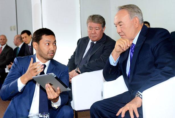 Кенес Ракишев и Нурсултан Назарбаев