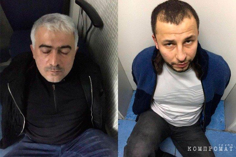 Намик Джаниев и Хаджи Бейлаганский во время задержания в Стамбуле