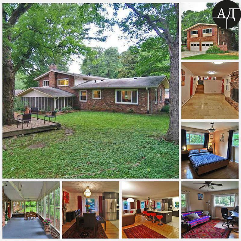 Типичный дом= американской= мечты:= несколько= этажей,= просторная= гостиная,= минимум= три= спальни= и= так= далее,= разглядывайте= сами.